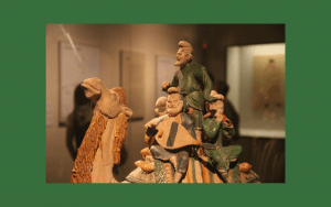 Chinese Tang sancai porcelain musicians on camel