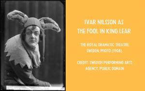 Photo - Ivar Nilsson as Lear's Fool