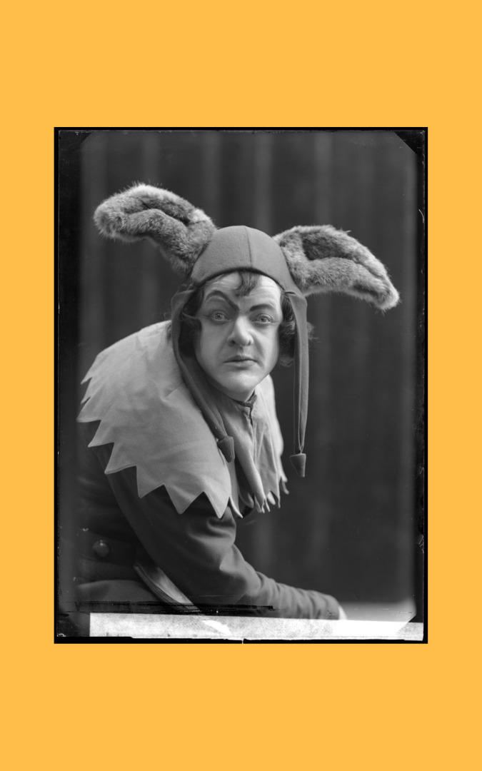 Credit: Photo of Ivar Nilsson as the fool in King Lear at the Royal Dramatic Theatre in Sweden, 1908. Scanned glass negative, courtesy Swedish Performing Arts Agency, public domain.