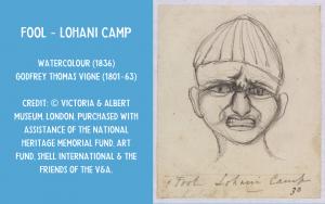 Drawing - fool Lohani camp