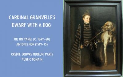 Cardinal Granvelle's Dwarf with a Dog – Antonis Mor