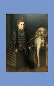 Painting - Mor - Cardinal Granvelle's dwarf & dog