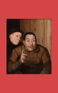 Painting - Two Jesters - A fool and a dwarf