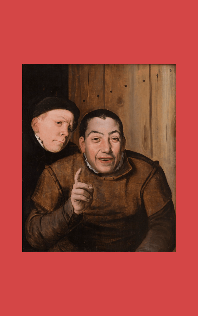 Image credit: 'A Fool and a Dwarf' / 'Two Jesters' (c. 1550-75), anon. Flemish, oil on oak panel.  Founders Society Purchase, General Membership Fund, Detroit Institute of Arts, public domain