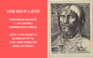 Print - Large Head of a Jester