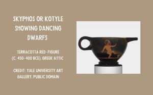 Greek Skyphos with dwarfs