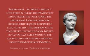 Quotation - Suetonius - Tiberius